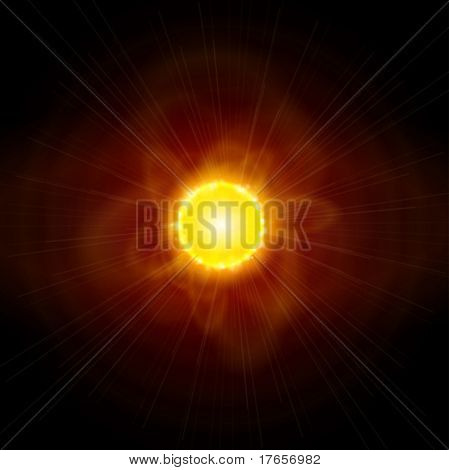 Sun and Space. Vector illustration. Eps10