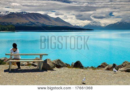 Lago Pukaki e Monte Cook, Alpes do Sul, Nova Zelândia