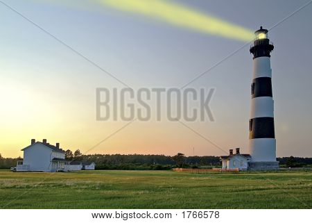 Bodie Lighthouse At Dust