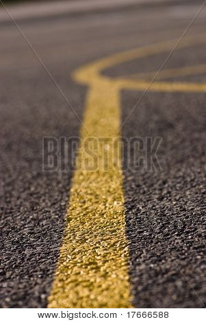 basketball yellow marks