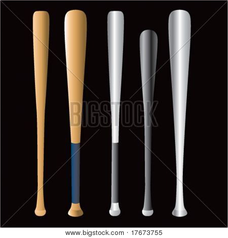 multiple baseball bats
