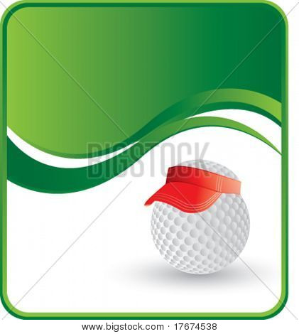 classy golf ball hat background