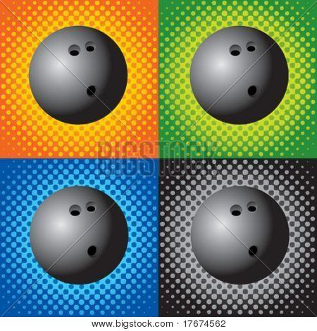 halftone bowling balls