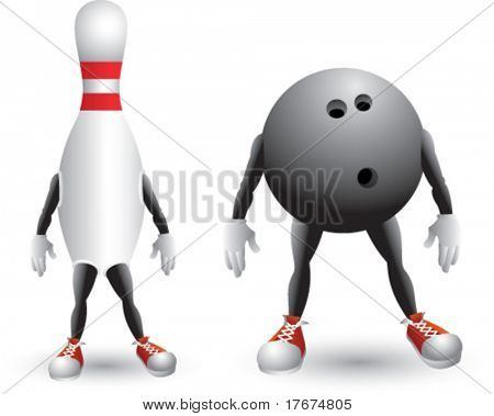 isolated bowling men