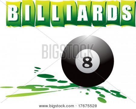 logotipo de Splat verde billar