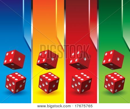 multi color dice banners