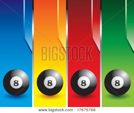 Multi Color Ball der acht Banner