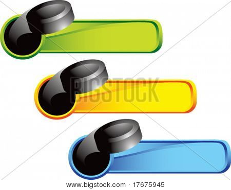multi color throw puck web banner