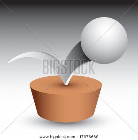 bouncing ping pong ball