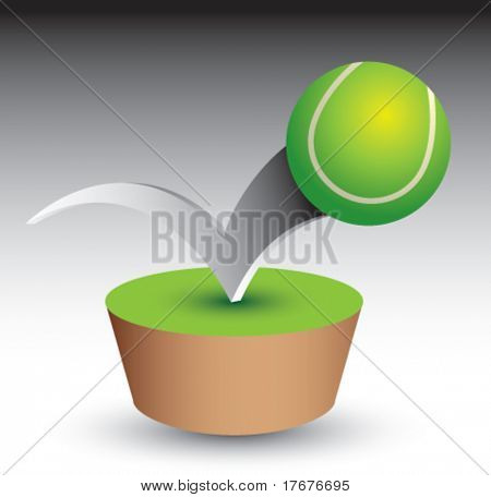 bouncing tennis ball