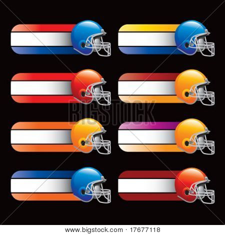 collegiate colored banners for football helmet
