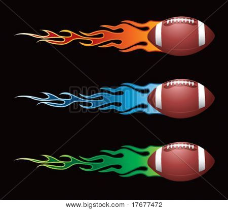 flying flaming footballs
