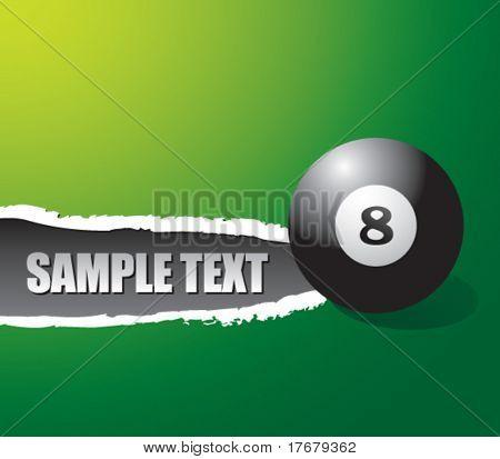 rasgado de papel con bola ocho