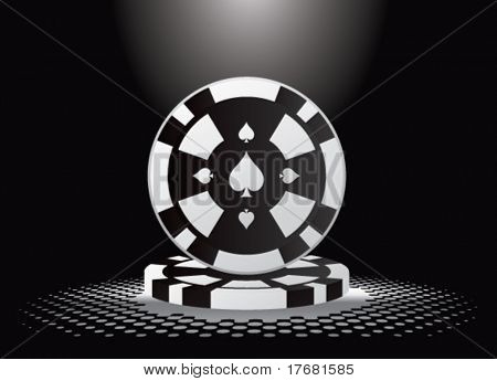gambling chips under spotlight