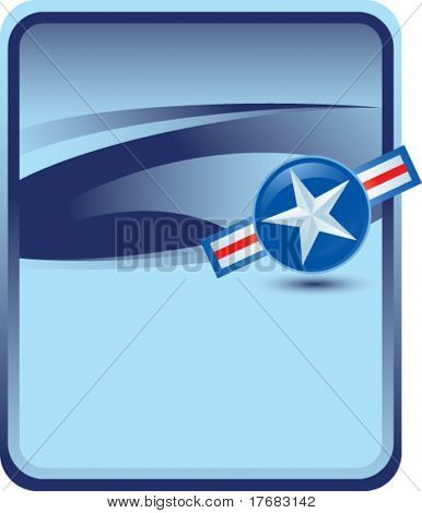 tilted air force icon on blue background