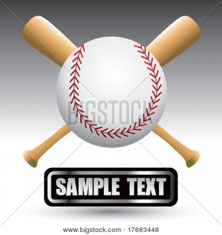 beisebol e morcegos na placa de identificação