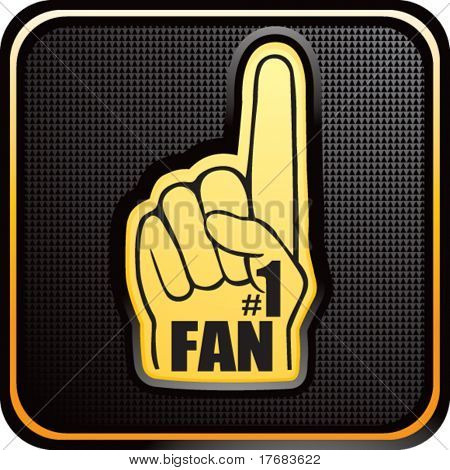 number one fan foam hand on web button