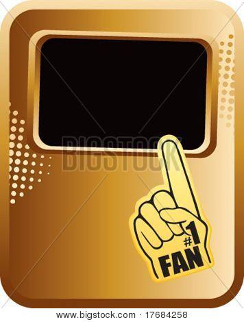 Nummer eins Schaum Hand auf gold Vorlage banner
