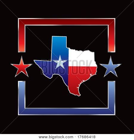 lonestar state on texas on star background