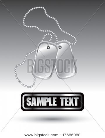 dog tags on nameplate