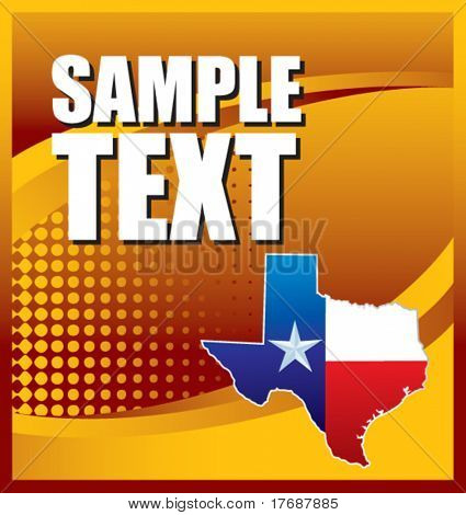 lonestar icon on orange halftone banner