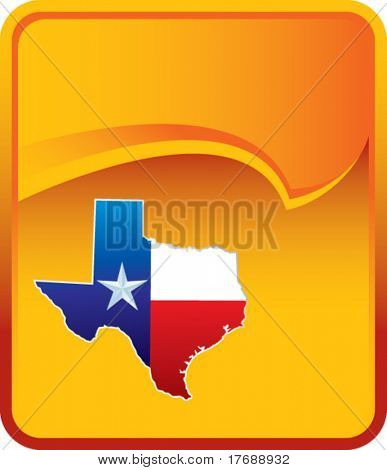 texas icon on orange rip curl background