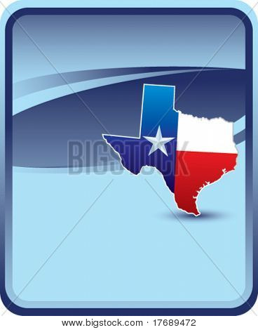 texas icon on classic clean background