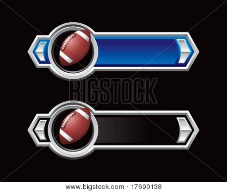 football on royal horizontal banners