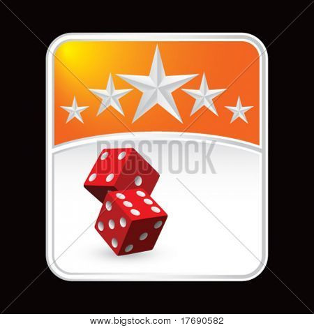 red dice on superstar background