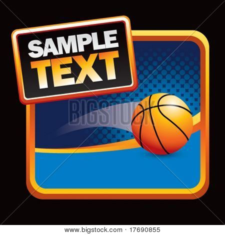 basketball flying on halftone background