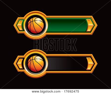 basketball on royal horizontal banners