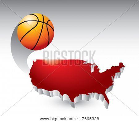 basketball flying across america