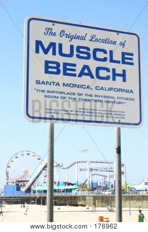 Muscle Beach Sign