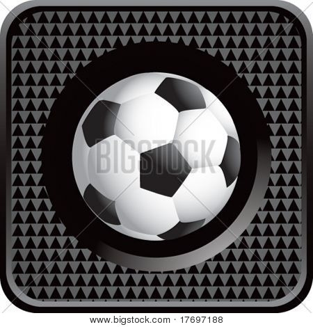 soccer ball on glossy diamond web button