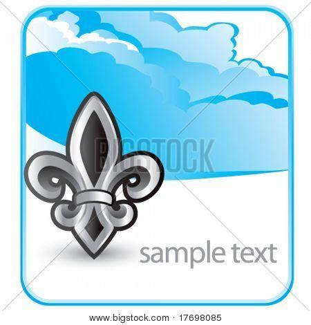 fleur de lis symbol on cloud banner
