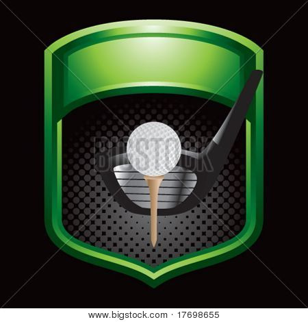 golf driver on green display
