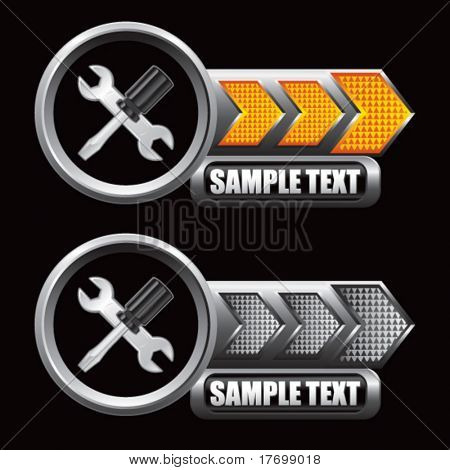 screwdriver and wrench icons