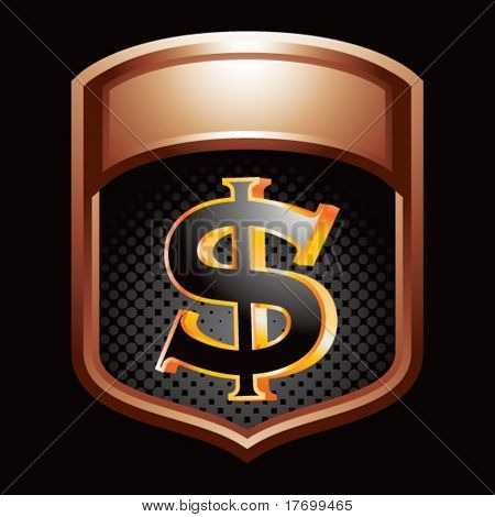dollar sign bronze display