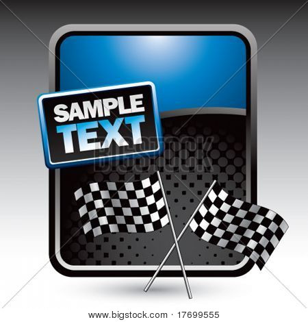 racing checkered flags on clean colored halftone background