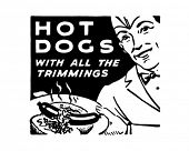 Hotdogs 3 - Retro Art-Werbebanner