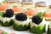 stock photo of crudites  - Healthy and good looking party snacks served on a plate - JPG