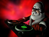 picture of santa-claus  - Big DJ SC is in Da House and mixing up some Christmas cheer - JPG