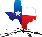 picture of texas state flag  - lonestar state of texas on oil - JPG