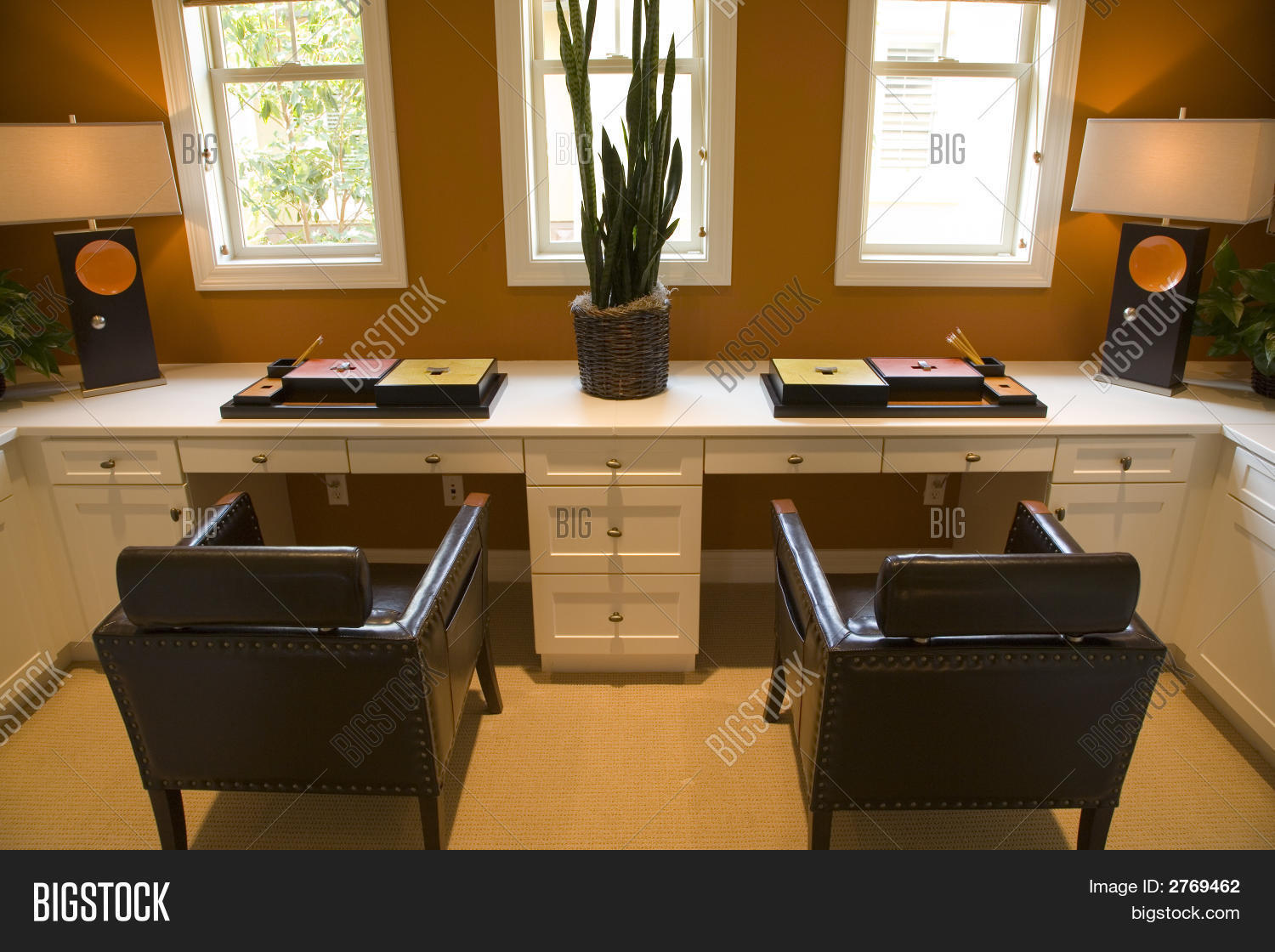 luxury home office for two. stock photo & stock images | bigstock