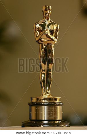 CANNES - MAY 15: This Oscar statue belonging to Jerry Lewis is on display in Cannes, France on May 15, 2009