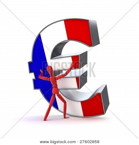 Keeping Up The Euro - French Flag