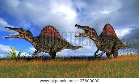 spinosaurus in field