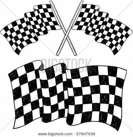 Checkered flag sketch