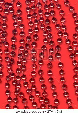 Red Xmas Balls  Stripes