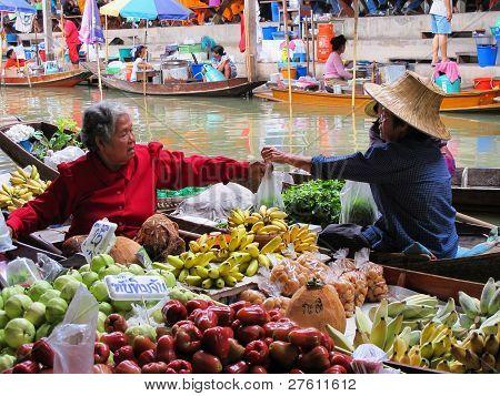 Vendedores de comida tailandesa
